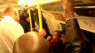 Download Old lady pulls the alarm in Kentish town (Northern Line) peak time in 4th Tube strike Video