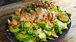 Download Grilled Chicken and Corn Salad with Chipotle Crema Video