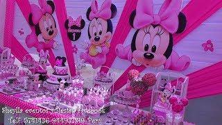 Download Castillo temático de Minnie, decoracion de fiesta infantil, torta, bocaditos personalizados Video