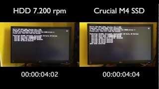 Download Crucial M4 128Gb SSD vs 2x2TB RAID-0 7.200 rpm - Hackintosh Lion Video