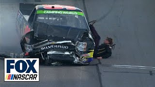 Download Bryan Silas Falls Out of Truck - Martinsville - 2014 NASCAR Camping World Truck Series Video