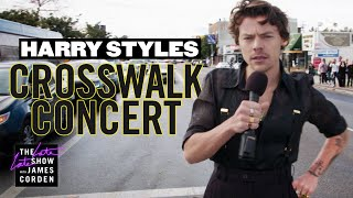 Download Harry Styles Performs a Crosswalk Concert Video