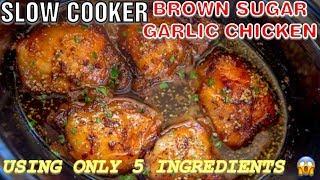 Download SLOW COOKER || BROWN SUGAR GARLIC CHICKEN || 5 INGREDIENTS ONLY !!!! Video