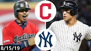 Download Cleveland Indians vs New York Yankees Highlights | August 15, 2019 (2019 MLB Season) Video