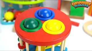 Download Teach Kids with Fun Preschool Toy Ball Pounding Benches! Video