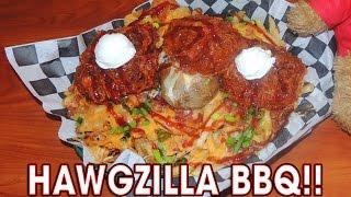 Download LOADED BBQ POTATOES HAWGZILLA CHALLENGE!! Video