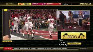 Download LZ Granderson loses it after Alabama scores the national championship-winning TD | ESPN Video