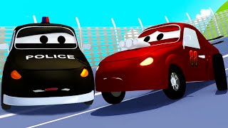 Download The Car Patrol: fire truck and police car and the Racing car's wheels problem in Car City Video