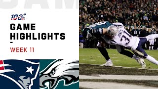 Download Patriots vs. Eagles Week 11 Highlights | NFL 2019 Video