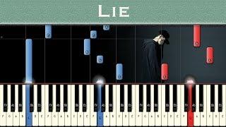 Download NF - Lie   Piano tutorial + MIDI Video