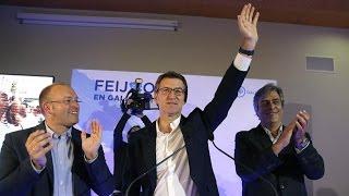 Download NÚÑEZ FEIJÓO - Discurso celebración MAYORÍA ABSOLUTA del PP de Galicia Video