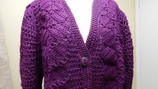 Download Suéter Crochet como tejer el Frente Video