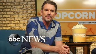 Download Ethan Hawke looks back on his career and life, talks new film 'Blaze' Video
