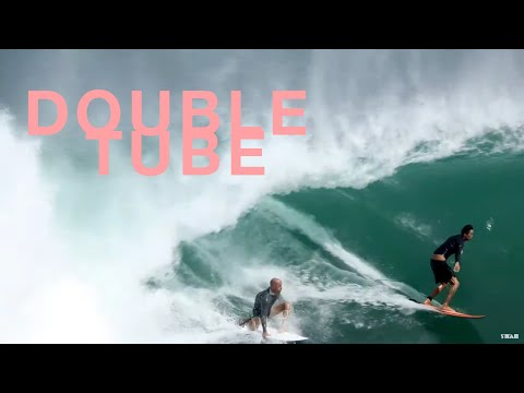 Kelly Slater and The King Of Indo Share A Barrel At Padang