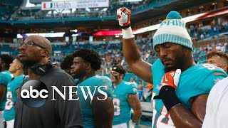 Download NFL players take a knee, raise fists during national anthem Video