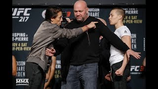 Download UFC 217: Joanna Jedrzejczyk vs. Rose Namajunas Staredown - MMA Fighting Video