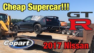 Download Rebuilding My First Supercar, Super cheap Wrecked 2017 Nissan GTR From Copart Salvage Auction Video