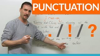 Download Learn Punctuation: period, exclamation mark, question mark Video