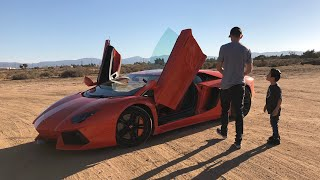 Download Surprising a 9 year old with an Aventador School Pickup Video