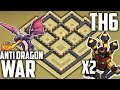 Download Clash of Clans BEST TH6 WAR BASE! 2 AIR DEFENSES! (Town Hall 6 War/Trophy Base) Anti Dragon Layout Video