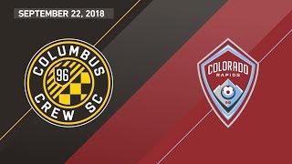 Download HIGHLIGHTS: Columbus Crew SC vs. Colorado Rapids | September 22, 2018 Video