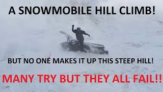 Download EPIC SNOWMOBILE HILL CLIMB FAILS | JUST SNOWMOBILES Video