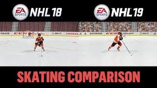 Download NHL 19 vs NHL 18 Skating Comparison Video