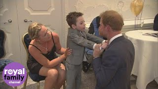 Download Chronically ill five-year-old hugs Prince Harry at WellChild Awards Video