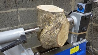 Download Woodturning - Oak Crotch Bowl (+Fixing big crack) Video