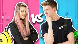 Download BACK TO SCHOOL Guys Vs. Girls Challenge + Giveaway 2016   Collins Key & Jessie Paege Video