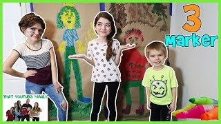 Download Life Size Three Marker Challenge / That YouTub3 Family Video