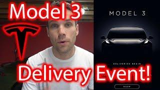 Download Tesla Model 3 Delivery Event Invitation!!!! It's Happening! Video