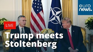 Download President Donald Trump holds bilateral meeting with NATO's Stoltenberg | LIVE Video