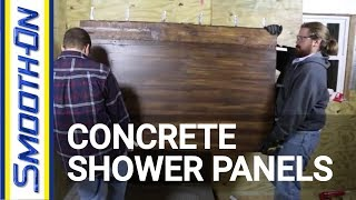 Download Casting GFRC Concrete to Create Textured Shower Panels Video