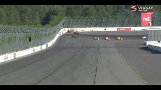 Download [HD] Fatal crash for Justin Wilson in indycar (RIP) - Pocono Speedway 2015 Video