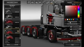 Download [ETS2]Euro Truck Simulator 2 Scania V8 Super Mega Tunning Store Video