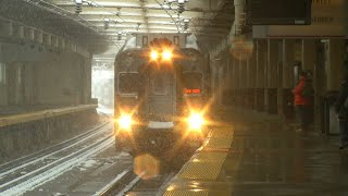 Download Commuters determined to get the better of fourth nor'easter Video