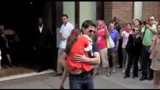 Download Tom Cruise & Suri Cruise first Day Out together in New York City Video