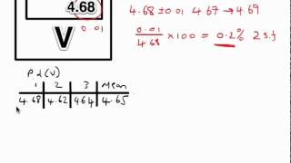 Download A Level Physics ISA Help Part 3 - Percentage Uncertainties Video