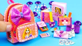 Download DIY Miniature Rapunzel School Supplies ~ Backpack, Notebook, Pencil Case Video