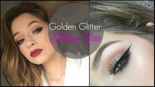 Download Golden Glitter & Peach GLAM Holiday Makeup Tutorial | Tori Sterling ♡ Video