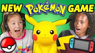 Download KIDS REACT TO NEW POKÉMON GAME! (Let's Go Pikachu) Video