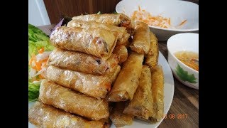 Download CHẢ GIÒ CHAY - Bí quyết làm Chả giò giòn lâu, Vỏ Bánh giòn rụm - Nem Chay by Vanh Khuyen Video