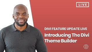 Download Divi Feature Update LIVE - Introducing The Divi Theme Builder Video