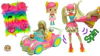 Download Barbie Video Game Hero New Movie Dolls - Rainbow Skates + Mini Race Car + Blind Bags Video