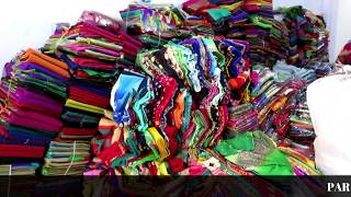Download Georgette chiffon Sarees   Wholesale Sarees Market Surat   silk Mills Surat Video