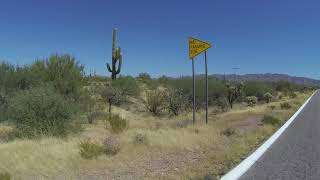 Download Tohono O'odham Nation, N Tucson-Ajo Highway, West from Broken Windmill, 13 Sept 2018, GP092505 Video