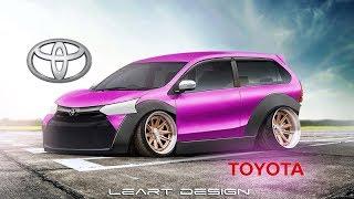 Download Wide Body Beast Toyota Avanza Virtual Tuning Photoshop Video