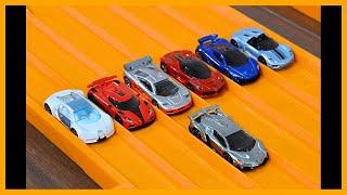 Download Lamborghini Veneno vs 6 Hypercar Exotics - Hot Wheels Video