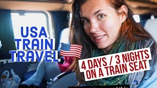 Download How to Survive 3 Nights in a SEAT on U.S. TRAINS, Solo | Amtrak California Zephyr Video